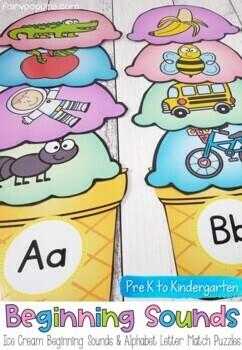 Beginning Sounds and Letters Match - Australian School Fonts