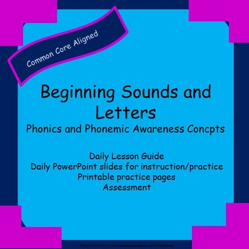Beginning Sounds and Letters:  Phonics and Phonemic Awaren