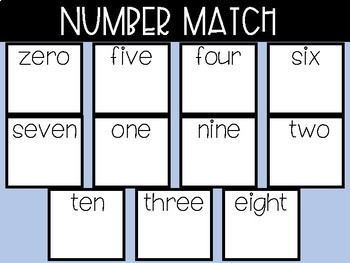 Beginning Sounds and Number Match Booklet