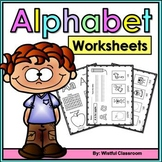 Alphabet Worksheets A-Z - Introducing the Letters