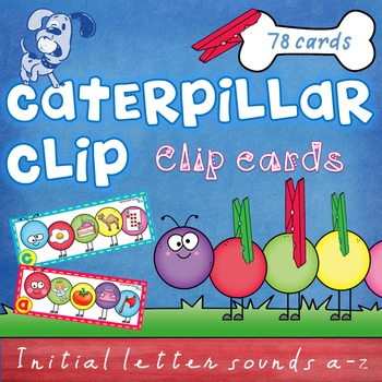 Beginning Sounds - clip cards - Caterpillar Clip