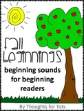 Beginning Sounds, Fall, Prek and Kindergarten