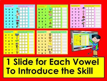 Phoneme Substitution - Google Slides Kindergarten and First Grade #TptDigital