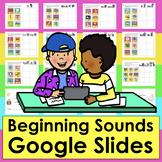 Beginning Sounds for Google Slides   Drag Pictures  PDF WITH LINK Set ONE
