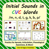 Initial Sounds in CVC Words for Apraxia, Articulation, Pho
