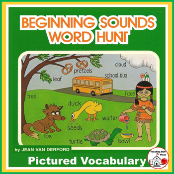 BEGINNING SOUNDS   Pictured Word Searches  COLOR  REVIEW V
