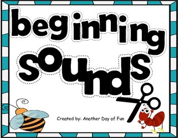 Beginning Sounds -matches the letter order from Kindergarten Reading Street