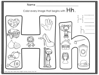 Beginning Sounds Coloring