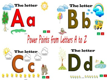 Beginning Sounds of the Alphabets A to Z (52 PPT with Flashcards + 1 Bonus PPT)
