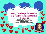 Beginning Sounds of the Alphabets A to Z (52 PPT with Flas