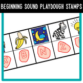 Beginning Sounds with Alphabet Play-Dough Stamps