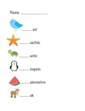 Beginning Sounds with Pictures