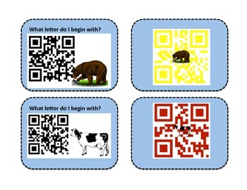Beginning Sounds with QR Voice Codes