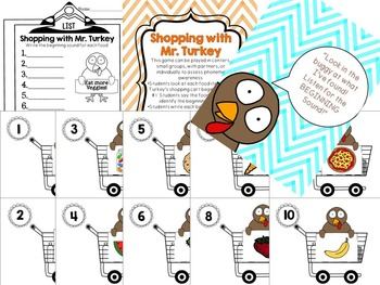 Beginning Sounds with Turkey