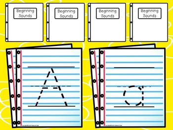 Beginning Sounds with Write and Wipe (Full Sheets/Full Alphabet) COLOR
