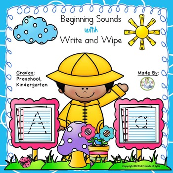 Beginning Sounds with Write and Wipe (Full Sheets/Full Alp