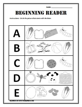 Language Arts Beginning Sounds/Letters