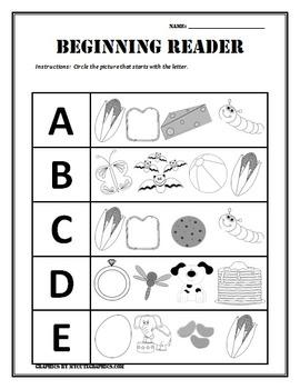Language Arts Beginning Sounds/Letters