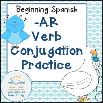 Beginning Spanish -AR Verb Conjugation... by Rebecca Reid ...