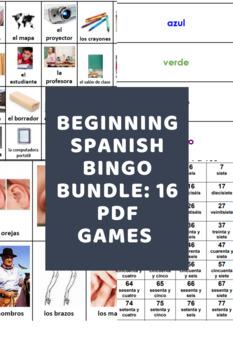 Beginning Spanish Bingo Pack