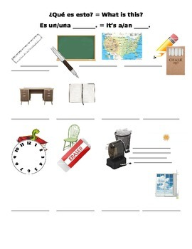 Beginning Spanish - Classroom Vocabulary & Practice