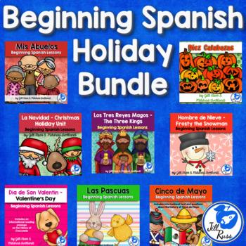 Beginning Spanish Elementary Holiday Seasonal Unit Bundle