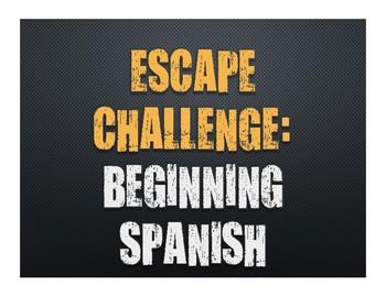 Beginning Spanish Escape Challenge