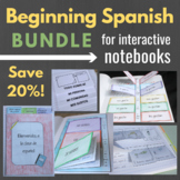 Interactive Notebook Growing Bundle for Beginning Spanish Classes