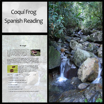 Beginning Spanish Reading and Questions on the Coquí Frog and Puerto Rico