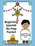 Beginning Spanish Vocabulary No Prep Packet