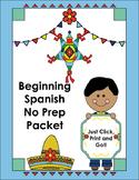 Beginning Spanish Vocabulary No Prep Packet
