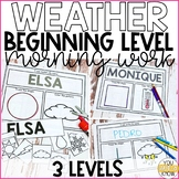 Beginning Special Education Morning Work: Weather Add On  {3 Levels!}