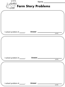 Addition and Subtraction Story Problem Task Cards K-2