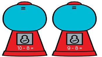 Beginning Subtraction-Gumball Machine Math Mats