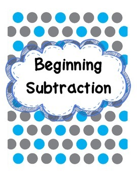 Beginning Subtraction - Kindergarten Envision Topic 8