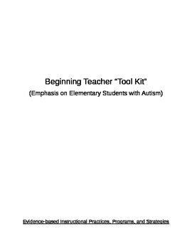 Beginning Teacher Tool-Kit (Emphasis on Autism Resources)