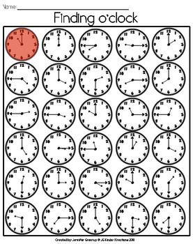 Beginning Telling Time