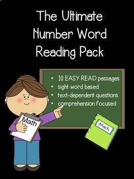 Number Word Reading Passages for Beginners with Text Evidence