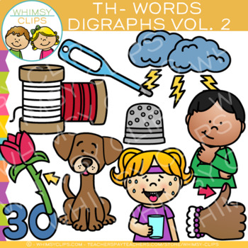 Digraphs Clip Art: Beginning Th- Words Clip Art {Volume Two}