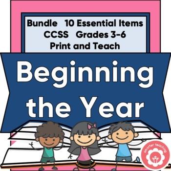 Beginning The School Year Bundle: Grades 3-6