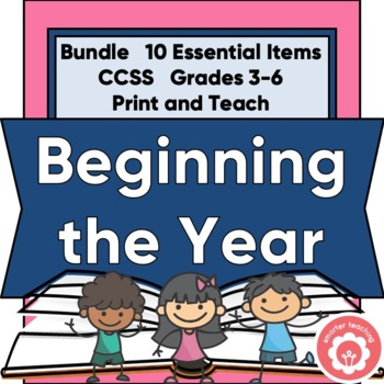 Beginning The School Year Bundle: Grades 3-6
