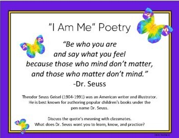 """Writing An """"I AM ME!"""" Poem"""