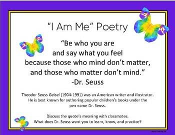 """Writing An """"I Am Me"""" Poem"""