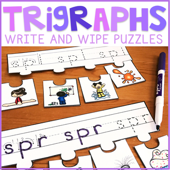 Beginning Trigraph Write and Wipe Puzzles