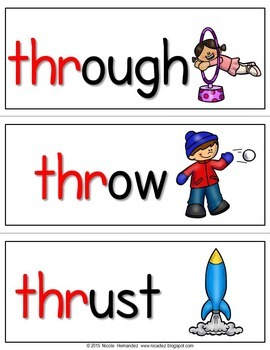 Trigraphs - (Beginning) - {75 Illustrated Word Cards}