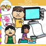 Beginning Trigraphs Clip Art: SCR Words