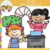 Beginning Trigraphs Clip Art: SHR Words