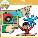 Beginning Trigraphs Clip Art: SPL Words
