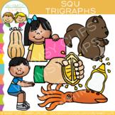 Beginning Trigraphs Clip Art: SQU Words