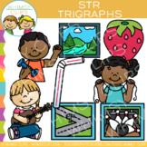 Beginning Trigraphs Clip Art: STR Words